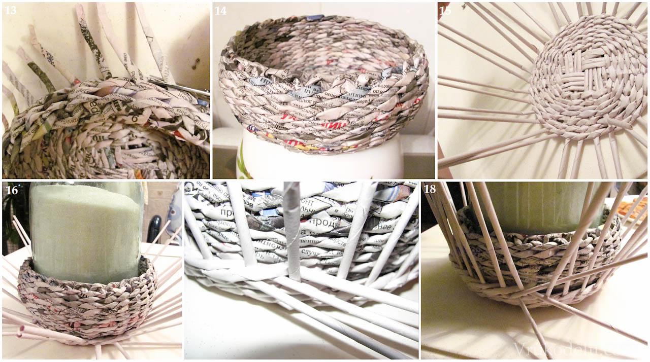 Поделки из газетных трубочек шкатулки схемы