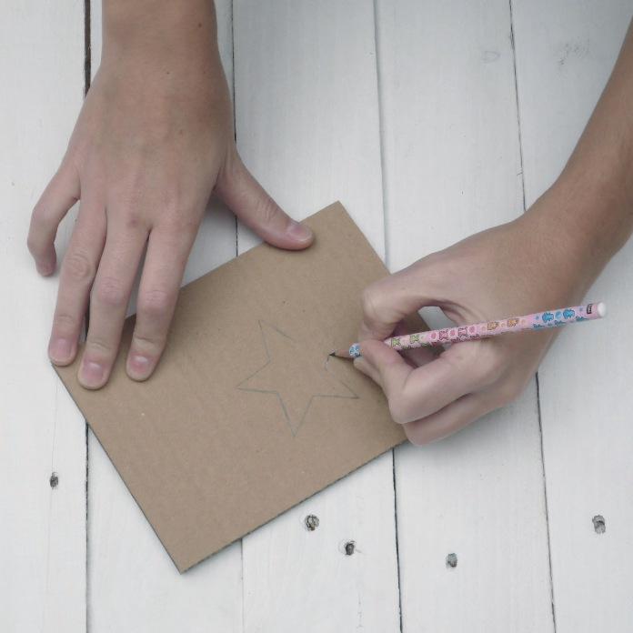 Ялинка з картону: майстер клас