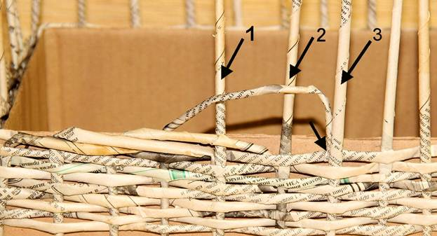 Плетіння з газетних трубочок