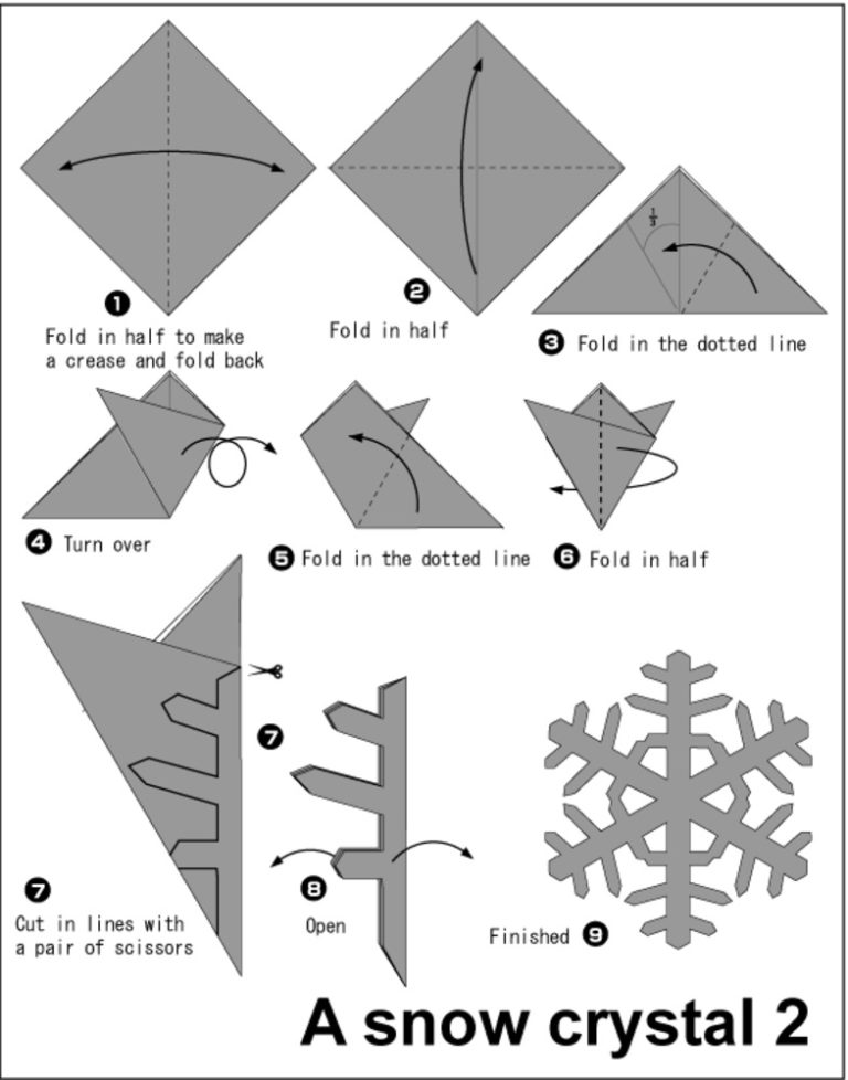 Сніжинки з паперу
