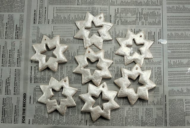сніжинки з солоного тіста
