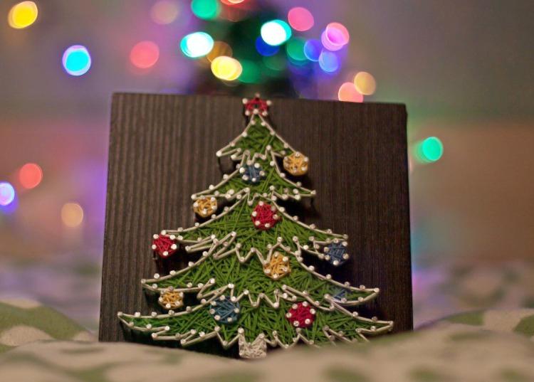 Робимо подарунки самі: Панно з ниток і цвяхів - майстер-клас з фото