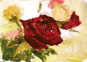 Вчимося малювати троянду олійними фарбами