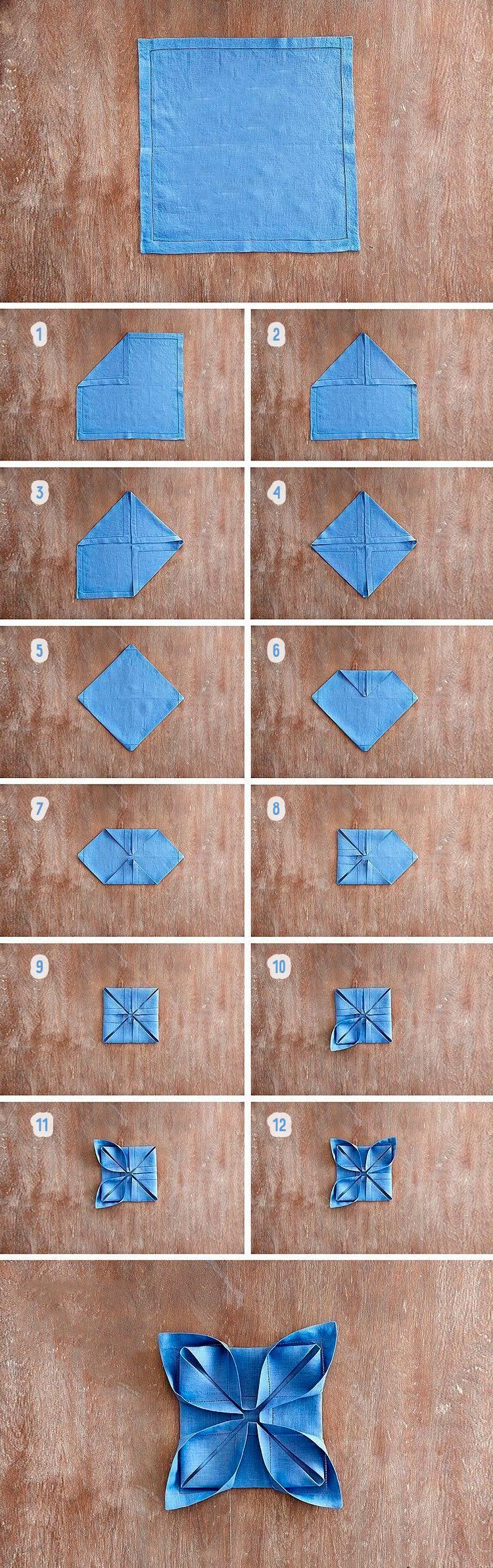 Красиво складаємо серветки різними способами: 16 покрокових схем